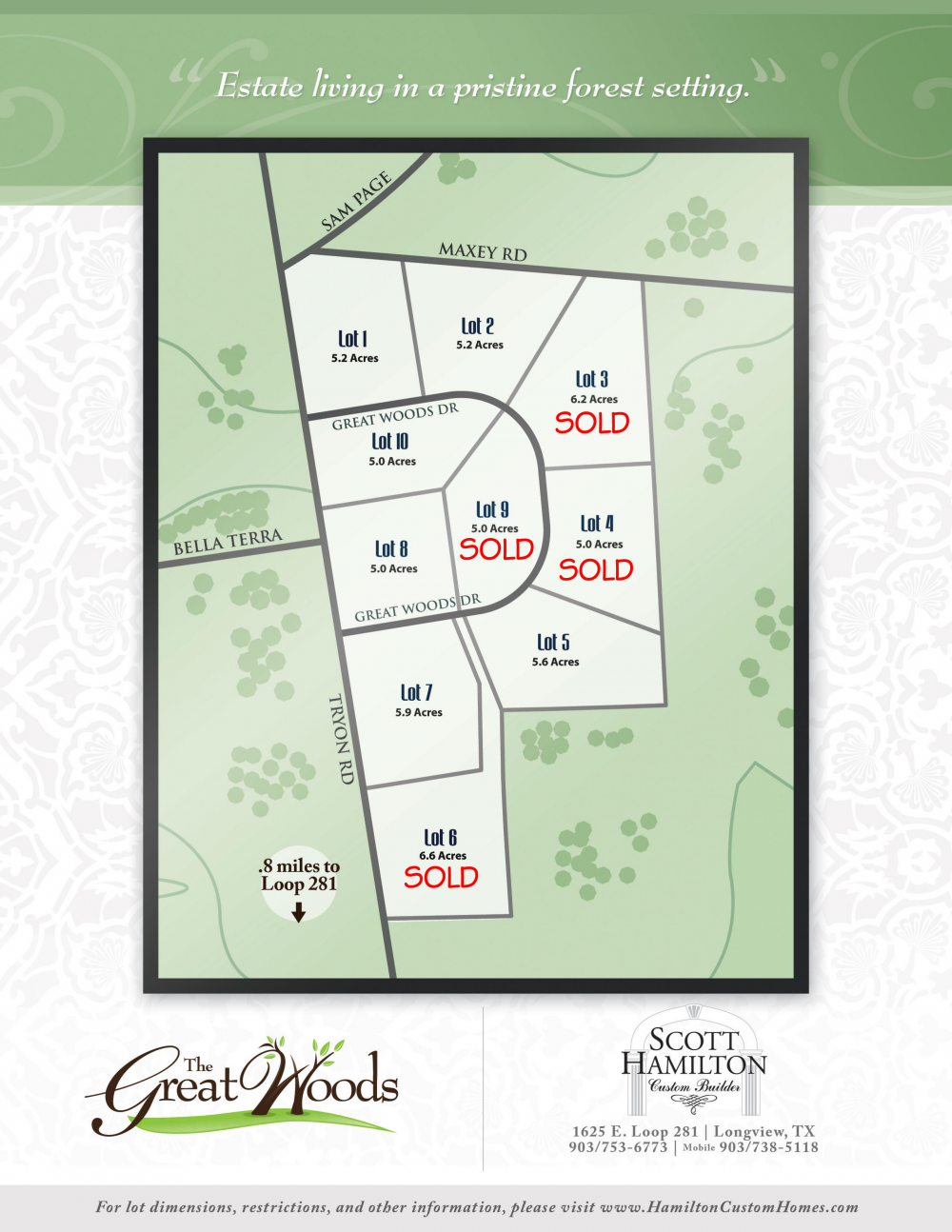 Great Woods Lots | Scott Hamilton Custom Homes